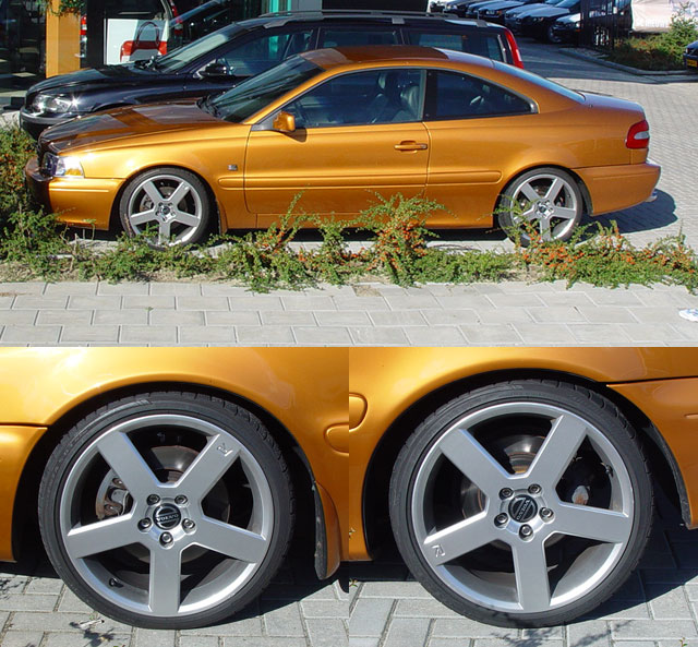 "Here Is Roy_S70R's C70, Lowered With 18"" Pegasus Wheels"